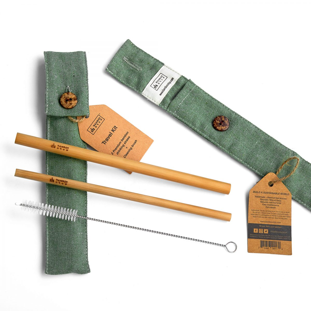 Bamboo Straw travel kit Bamboo Step SIGNATURE.