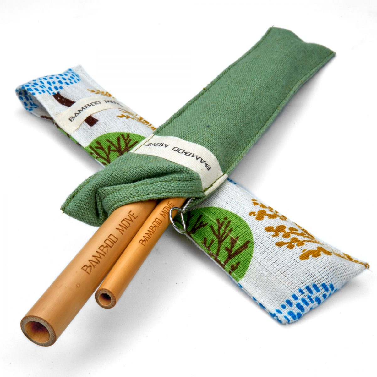 Bamboo straw travel Kit Bamboo Move by Bamboo Step.